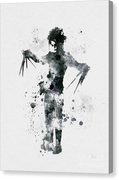 Johnny Depp Canvas Print - Edward Scissorhands by Rebecca Jenkins