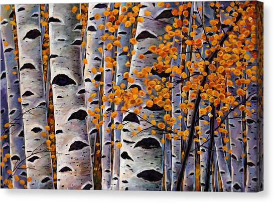 Orange Tree Canvas Print - Effulgent October by Johnathan Harris
