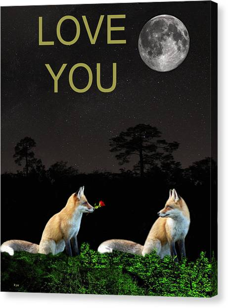 Eftalou Foxes Love You Canvas Print