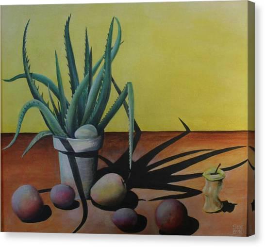 Egg And Aloe Canvas Print