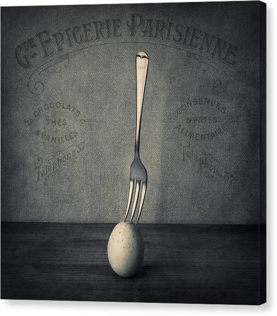 Squares Canvas Print - Egg And Fork by Ian Barber