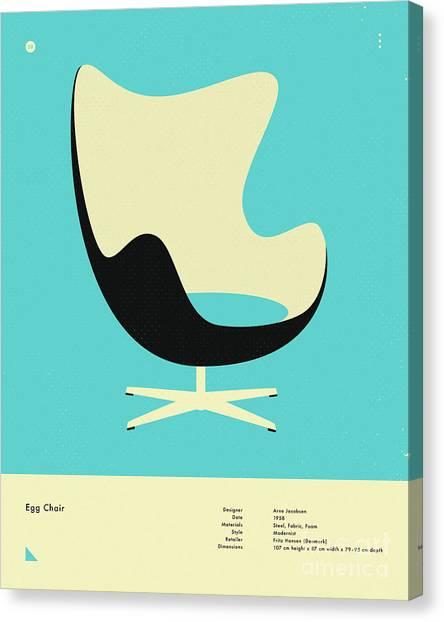 Egg Chair Canvas Print   Egg Chair 1958 By Jazzberry Blue