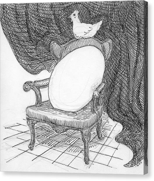 Egg In Chair Sketch Canvas Print