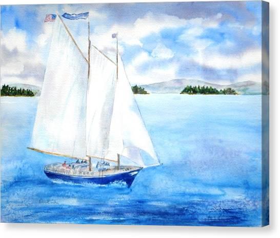 Eggemoggin Cruise Canvas Print
