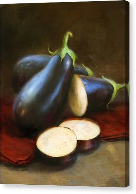 Vegetables Canvas Print - Eggplants by Robert Papp