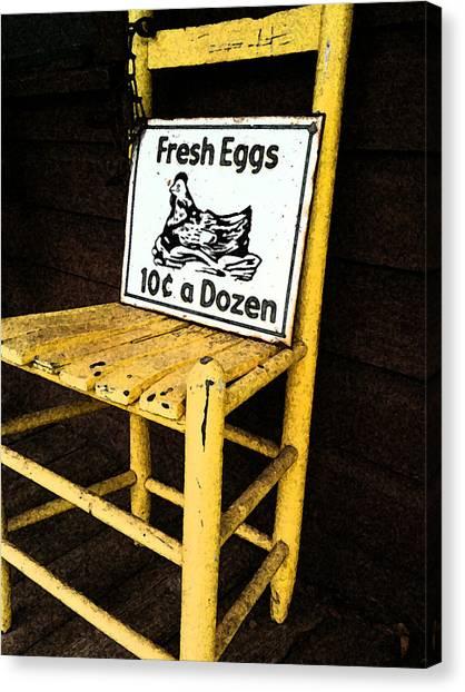 Eggs For Sale Canvas Print by Lori Mellen-Pagliaro