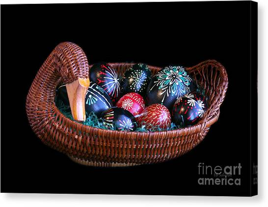 Eggs In A Goose Basket Canvas Print