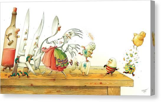 Eggs Liberty Canvas Print by Kestutis Kasparavicius