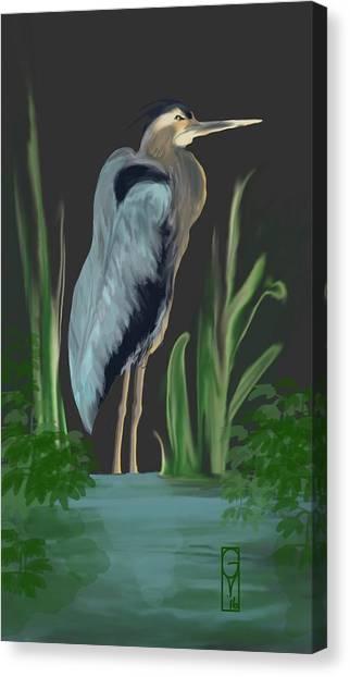 Egret I Canvas Print