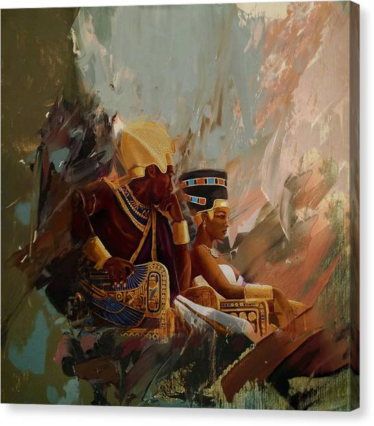Egyptian Art Canvas Print - Egyptian Culture 44b by Corporate Art Task Force