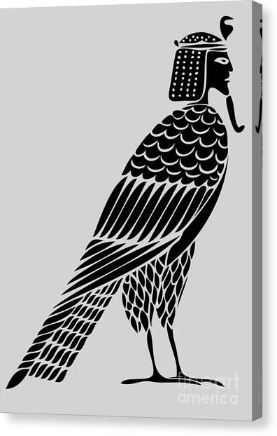 Archeology Canvas Print - Egyptian Demon - Bird Of Souls by Michal Boubin