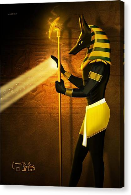 Egyptian Art Canvas Print - Egyptian God Anubis by John Wills
