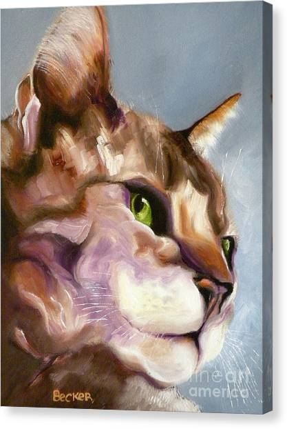 Egyptian Maus Canvas Print - Egyptian Mau Princess by Susan A Becker