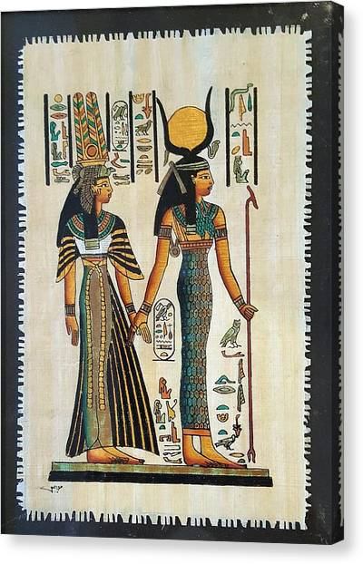 Egyptian Papyrus Canvas Print