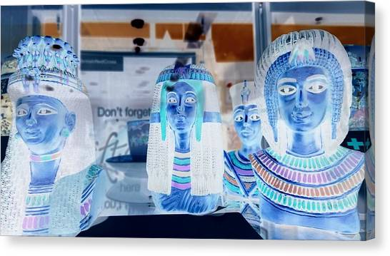 Egyptian Statues Canvas Print