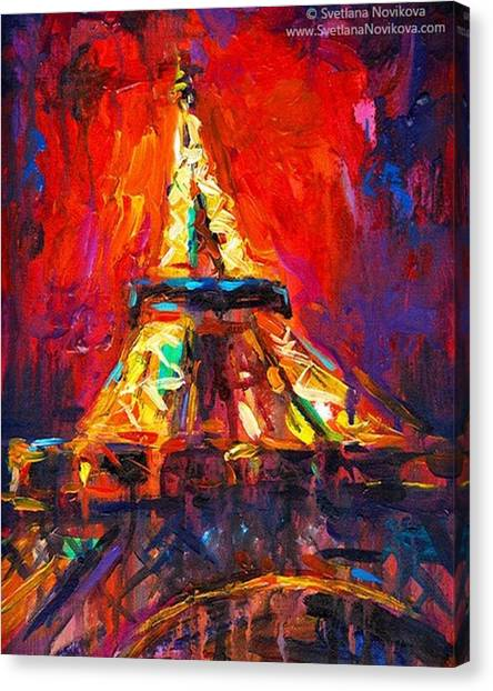 Paris Canvas Print - Eifell Tower By Svetlana Novikova ( All by Svetlana Novikova