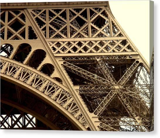 Eiffel Structure 2 Canvas Print by John Julio