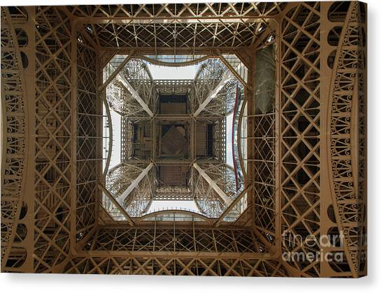 Eiffel Tower Abstract Canvas Print