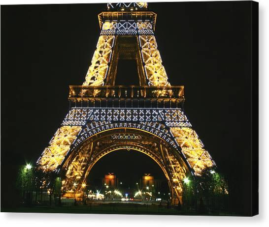 Eiffel Tower At Night Canvas Print by Hans Jankowski