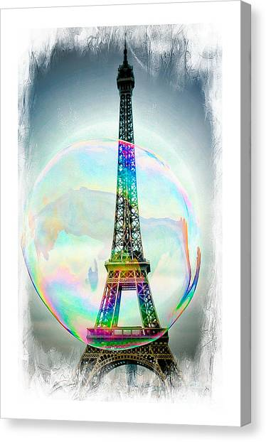 Eiffel Tower Bubble Canvas Print