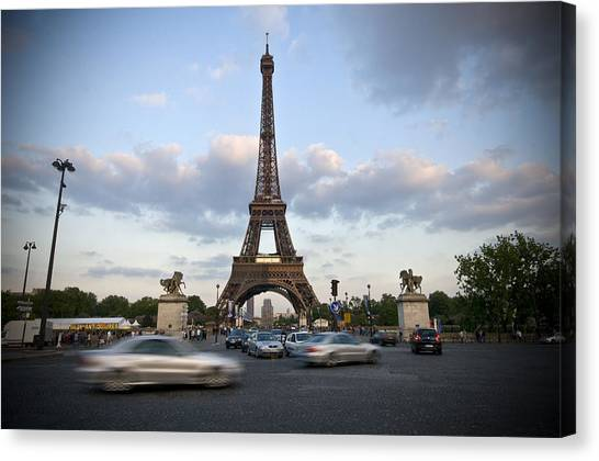 Eiffel Tower Canvas Print by Krista  Corcoran Photography