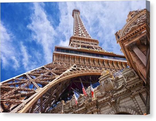 Canvas Print featuring the photograph Eiffel Tower Las Vegas  by Ricardo J Ruiz de Porras