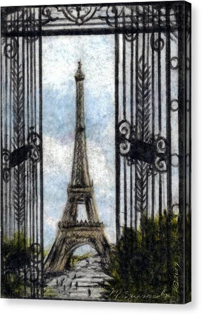 Eiffel Tower Canvas Print by Melissa J Szymanski