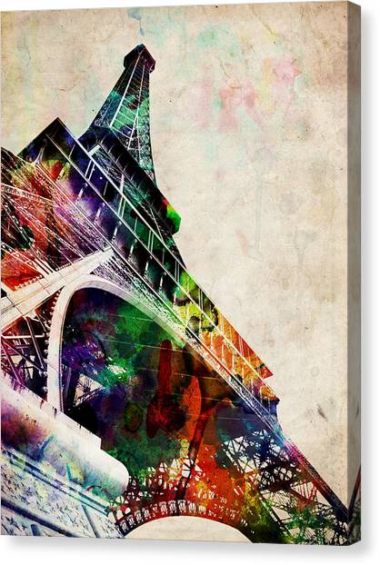 French Canvas Print - Eiffel Tower by Michael Tompsett