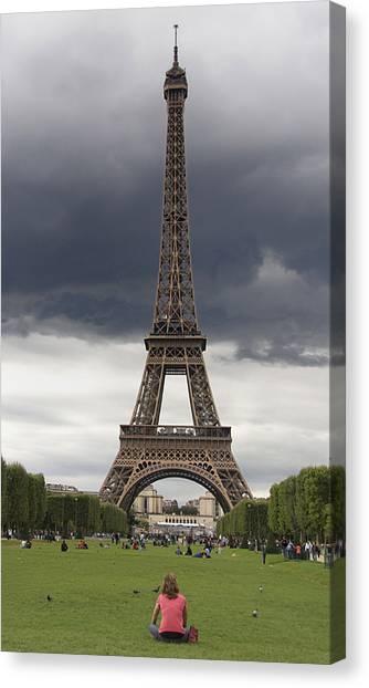 Parisian Canvas Print - Eiffel Tower. Paris by Bernard Jaubert