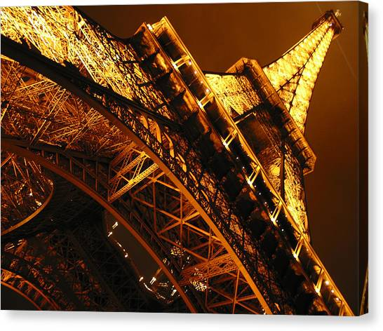 Eiffel Tower Canvas Print - Eiffel Tower Paris France by Gene Sizemore