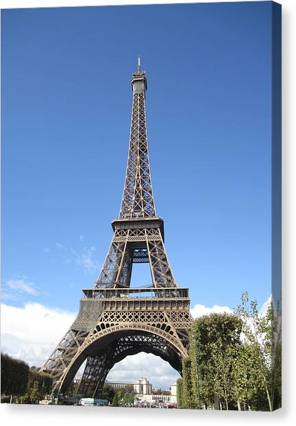 Eiffel Tower Tarped Ix Paris France Canvas Print