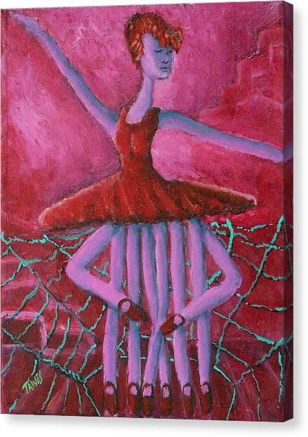Eight Legged Ballerina Canvas Print