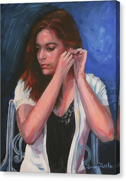Eighteen Portrait By Moonlight Canvas Print