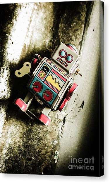 Repairs Canvas Print - Eighties Cybernetic Droid  by Jorgo Photography - Wall Art Gallery