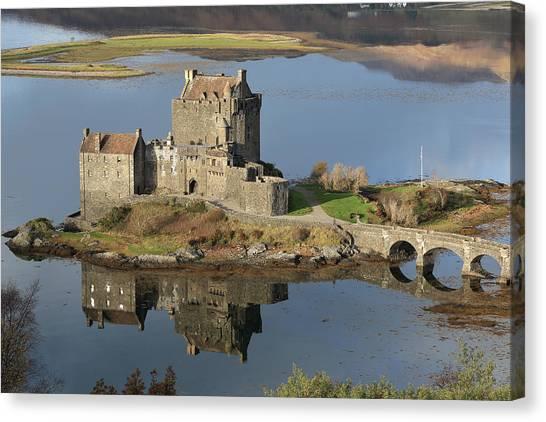 Eilean Donan Castle Reflections Canvas Print