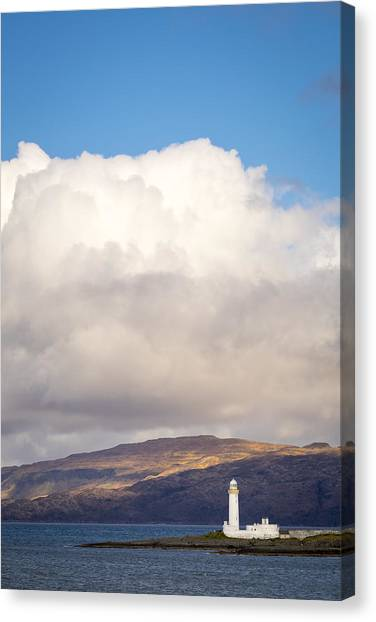 Eilean Musdile Lighthouse On Lismore Canvas Print