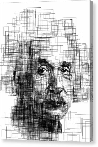 Science Canvas Print - Einstein  by Harold Belarmino