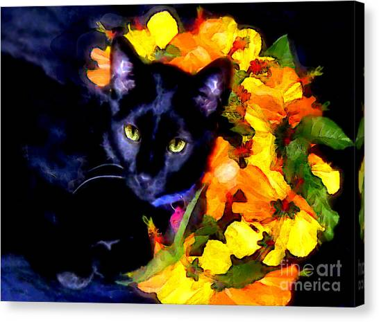 Einstein The Cat Canvas Print