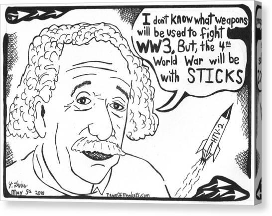 Missles Canvas Print - Einstein's Theory Of War by Yonatan Frimer Maze Artist