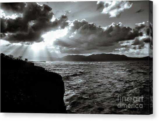 Atlantic 10 Canvas Print - El Cabito Sunrays by Norma Brandsberg