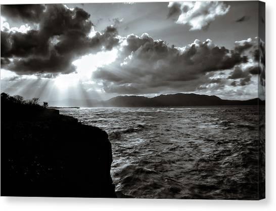 Atlantic 10 Canvas Print - El Cabito Sunrays by Norma Brandsberg