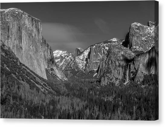 El Capitan And Half Dome Canvas Print