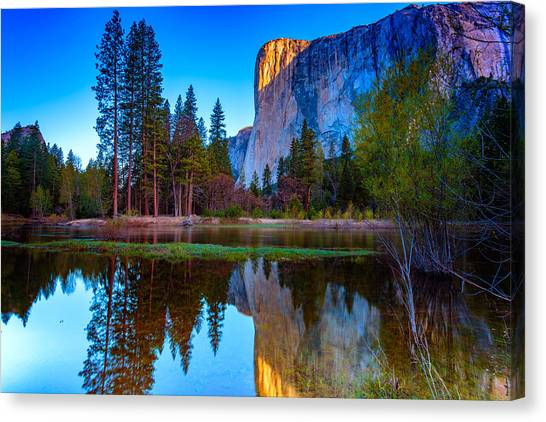 Mountain Cliffs Canvas Print - El Capitan by Rick Berk