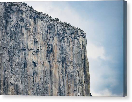 El Capitan Up Close And Personal From Tunnel View Yosemite Np Canvas Print