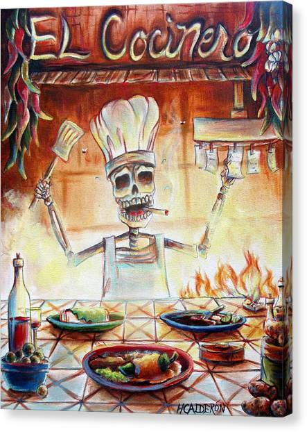 Star Trek Canvas Print - El Cocinero by Heather Calderon