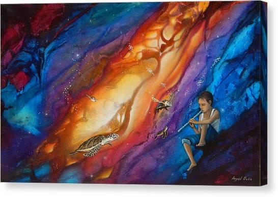 El Flautista Canvas Print