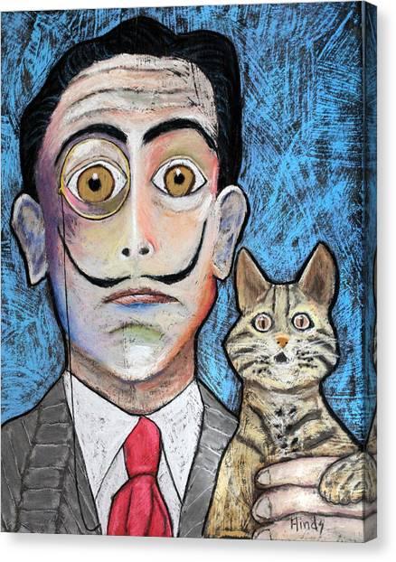 Salvador Dali Canvas Print - El  Gato by David Hinds