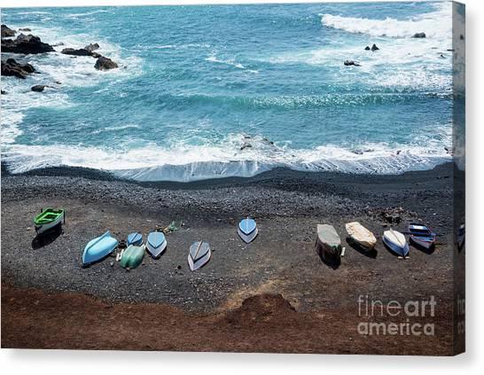 Lanzarote Canvas Print - El Golfo by Delphimages Photo Creations