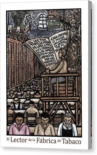El Lector Canvas Print by Ricardo Levins Morales
