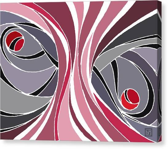 el MariAbelon red Canvas Print